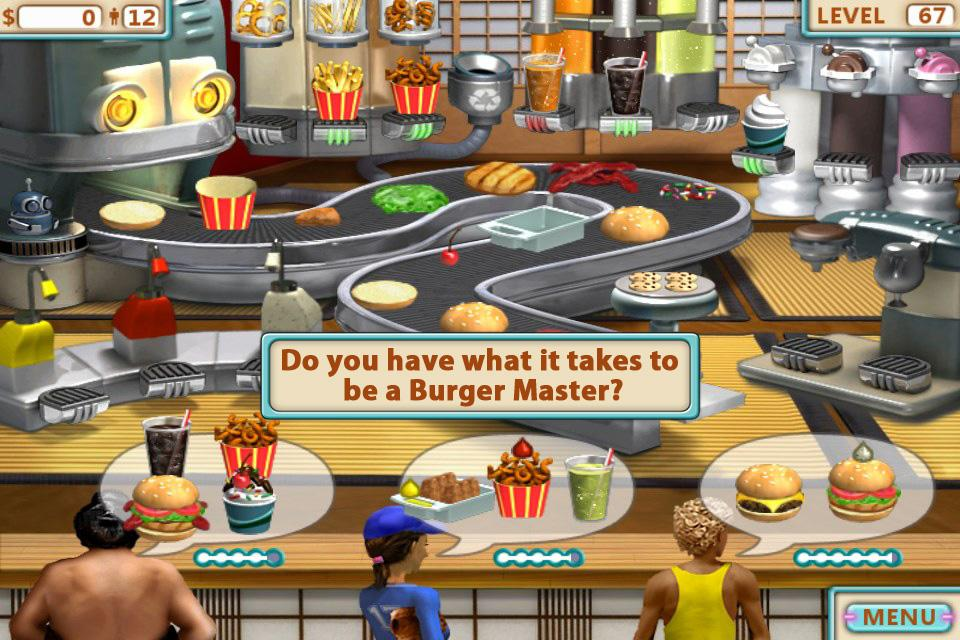 Screenshots of Burger Shop for iPhone
