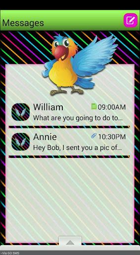 CartonBirds GO SMS THEME