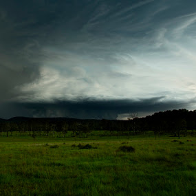 Ipswich Stormfront by Craig Mc P - Landscapes Weather ( hail, ipswich, ripley, storm )