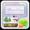 GO SMS Pro Snowlove Popup them icon