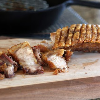 Slow Roasted Pork Belly with Crispy Skin