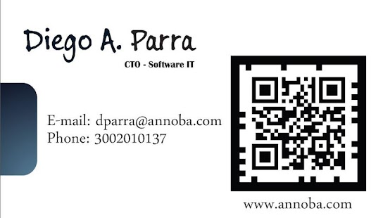 AR business card - screenshot thumbnail