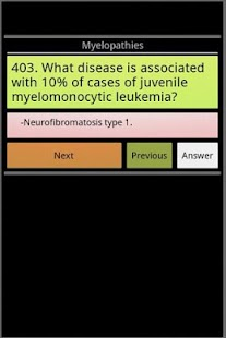 Hematology exam questions screenshot for Android