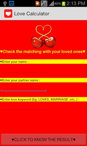 Love Test Game Calculator