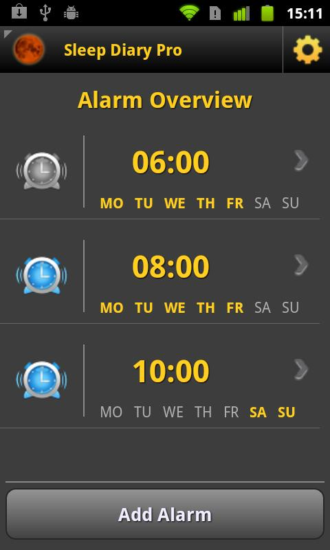 Sleep Diary Pro - screenshot