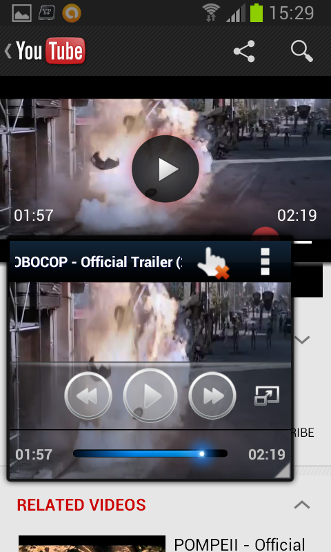 Video Popup, Pro - screenshot
