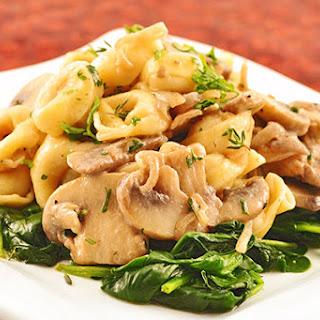 Tortellini, Mushrooms in Marsala-Mascarpone Cream Sauce.