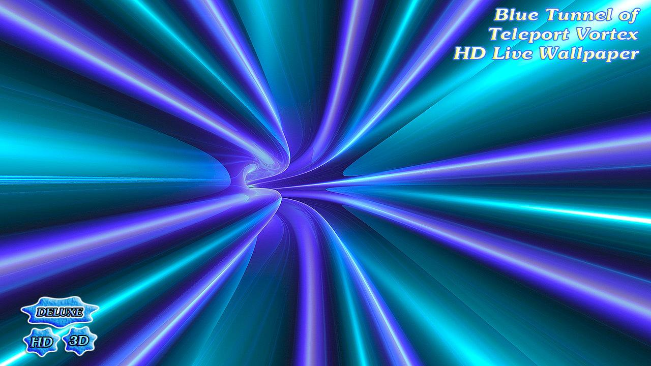 Blue Tunnel of Teleport Vortex- screenshot