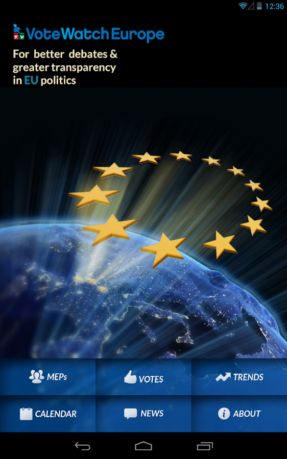 VoteWatch Europe- screenshot