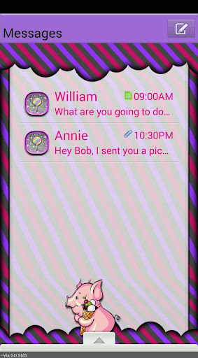Candy GO SMS THEME