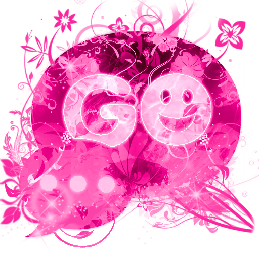 SMSのテーマピンクの花をGO SMS Theme Pink 個人化 App LOGO-硬是要APP