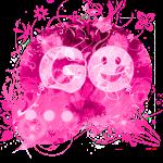 GO SMS Theme Pink Flower
