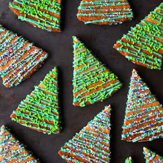 Christmas Tree Shortbread Cookies.