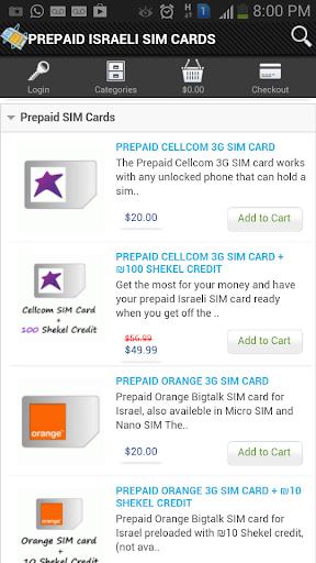 Prepaid Israeli SIM Topup