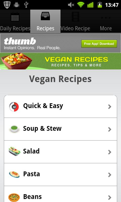 Vegan Recipes! - screenshot