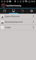 Screenshot of TopZeiterfassung