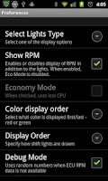 Screenshot of Shift Lights for Torque Pro
