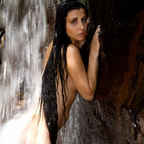 by DM Photograpic - People Portraits of Women ( nude, longhair, white, water fall, black,  )