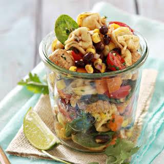 Rainbow Tex-Mex Tortellini Salad.