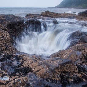 Thor's Well 1 by Glenn Miller - Landscapes Waterscapes ( oregon, cape perpetua, state park, ocean, thor's well )