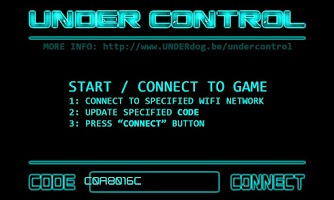 Screenshot of UNDER Control
