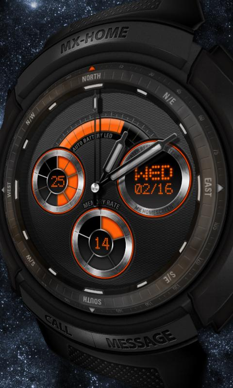 Sports watch_free MXHome theme - screenshot