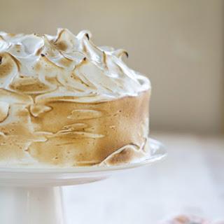 Orange Cake w/ Italian Meringue Frosting