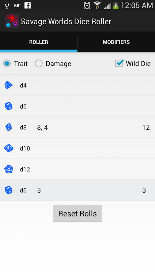 Savage Worlds Dice Roller- screenshot
