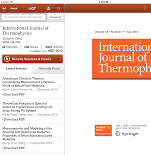 Intl Journal of Thermophysics - screenshot thumbnail
