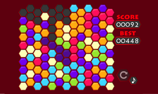 Hexagon Color Match puzzle