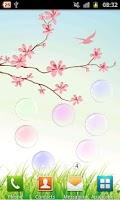 Screenshot of Collide Bubbles Live Wallpaper