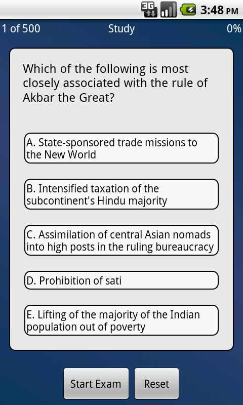 500 AP World History Questions - screenshot