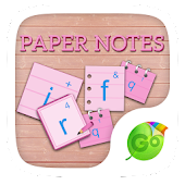 Paper Notes GO Keyboard Theme