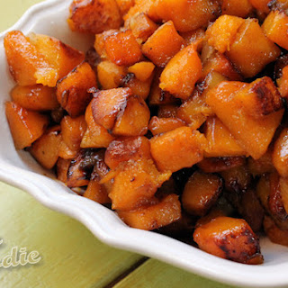 Roasted Apple-Butternut Squash Recipe with Maple Cardamom Glaze