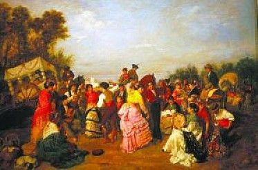 Resultado de imagen de oleo de romeria siglo xix