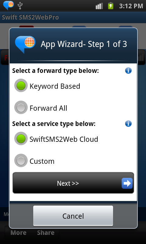 SwiftSms2WebPro- screenshot