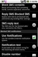 Screenshot of SMS Blocker Free