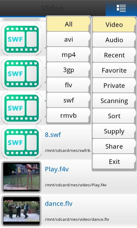 Flash Free Video Player - screenshot
