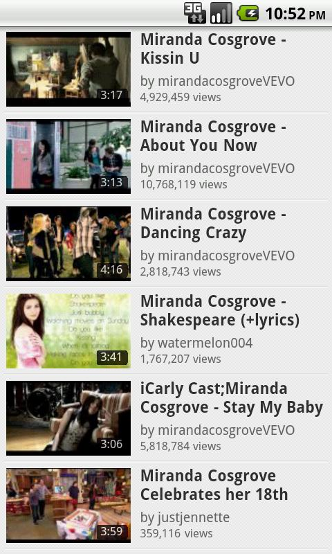 Miranda Cosgrove Fan App - screenshot