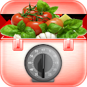 Hand motion kitchen timer icon