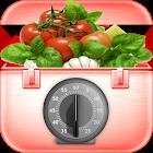 Hand motion kitchen timer icon
