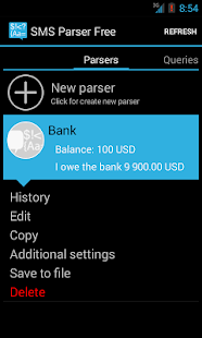 SMS Parser Free- screenshot thumbnail