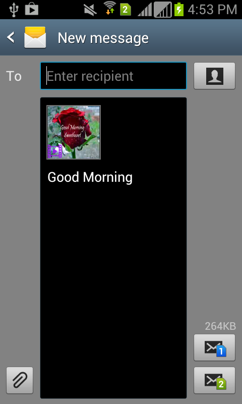 Good Morning Video SMS - screenshot