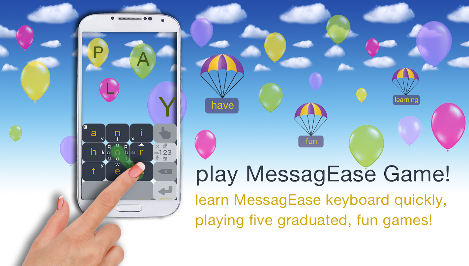 MessagEase Keyboard- screenshot
