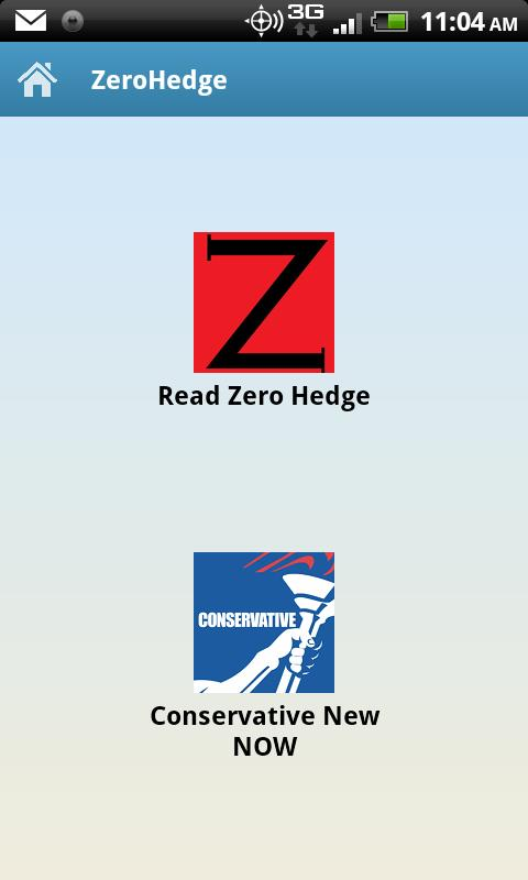 ZeroHedge Reader Mobile - screenshot