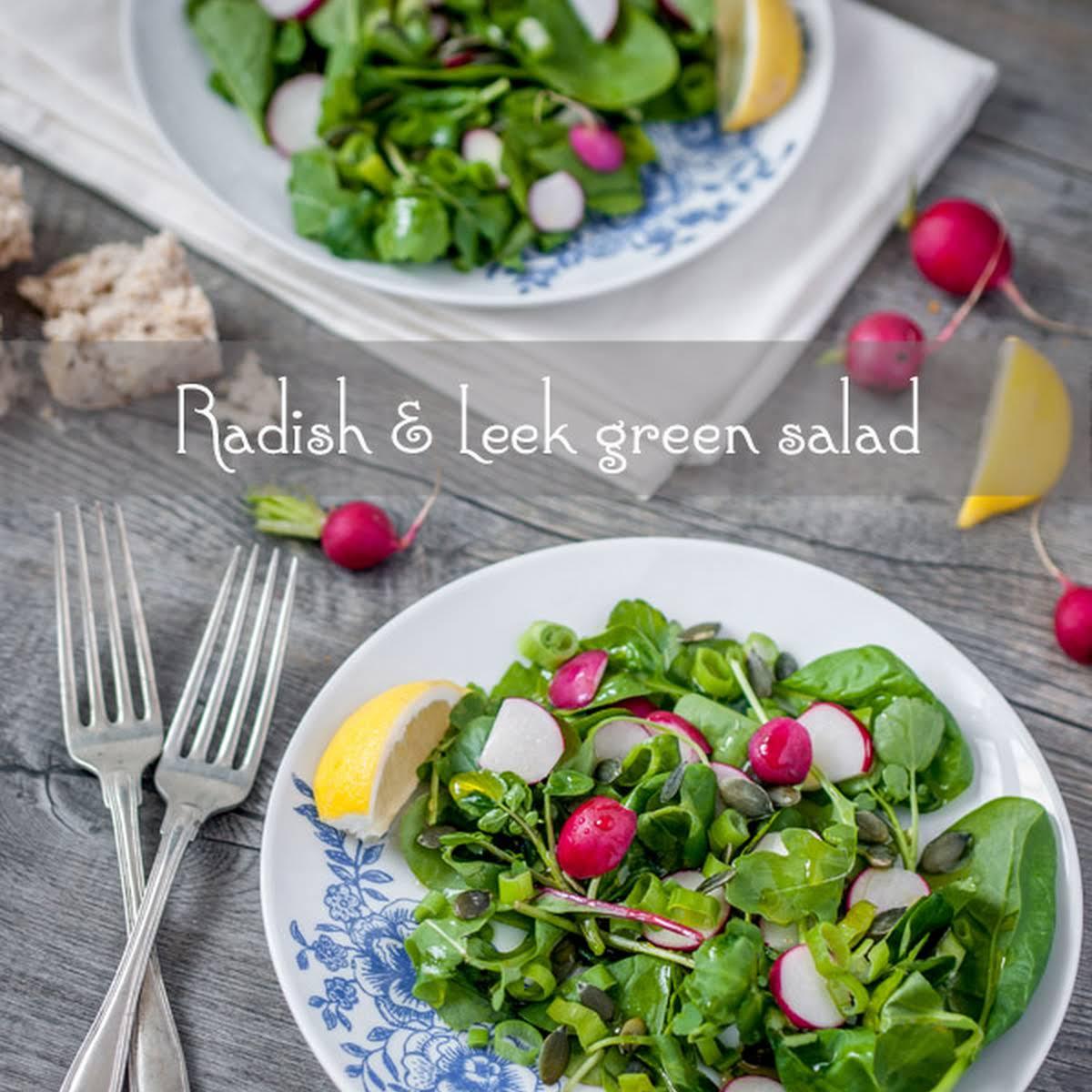 Radish Leek Green Salad