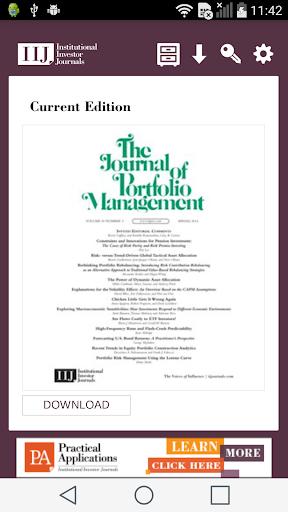 Journal of Portfolio Mngment