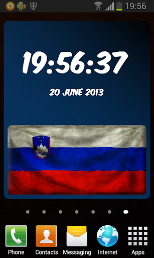 Slovenia Digital Clock