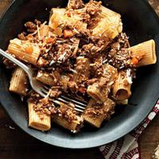 Not-a-Boar Meat Sauce and Pasta