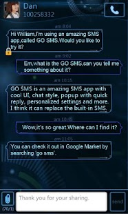 GO SMS Pro Future Theme - screenshot thumbnail